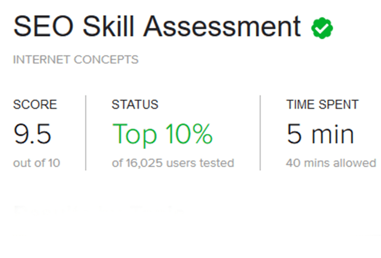 Fiverr SEO Skill Assessment Test
