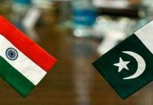 India and Pakistan Flag Together