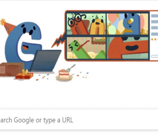 Google's 22nd birthday with Google Doodle