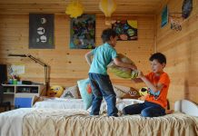 Kids in Decorated Room