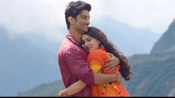 Sushant Singh with Sara Ali Khan