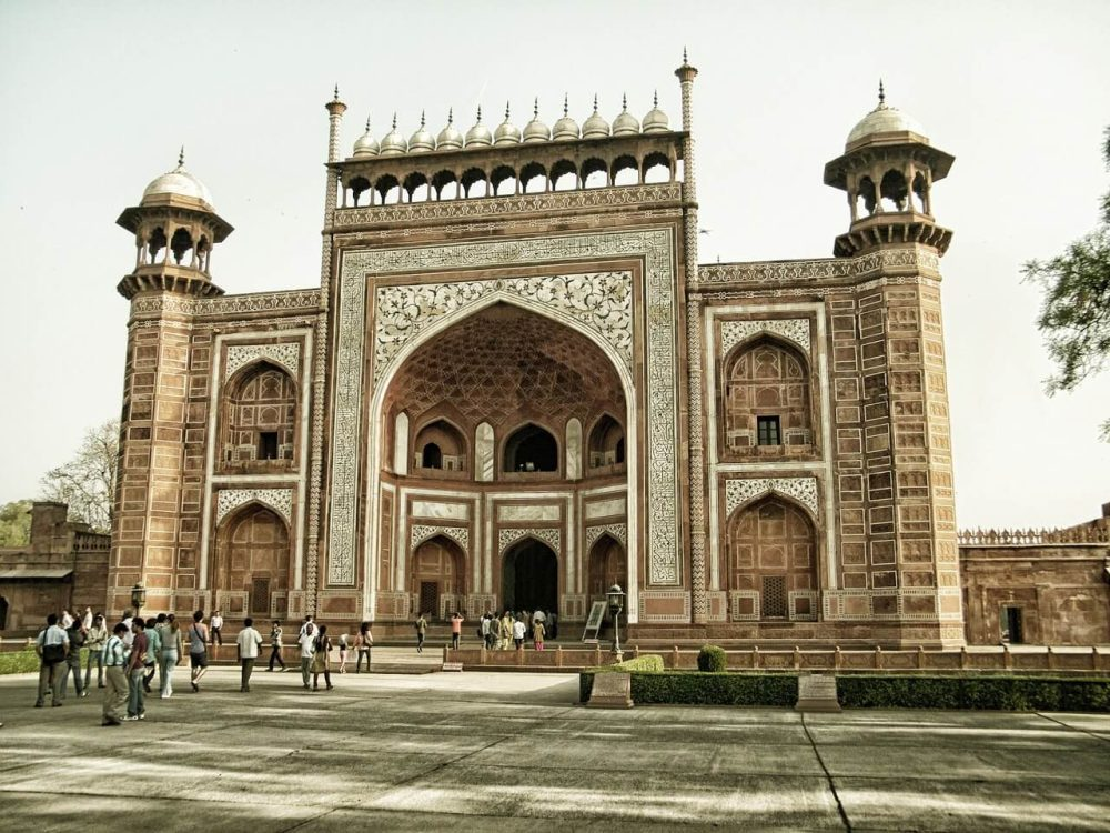 Agra fort architecture, India