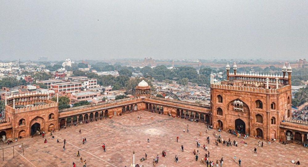 Masjid Tower Inside Jama Masjid, Delhi