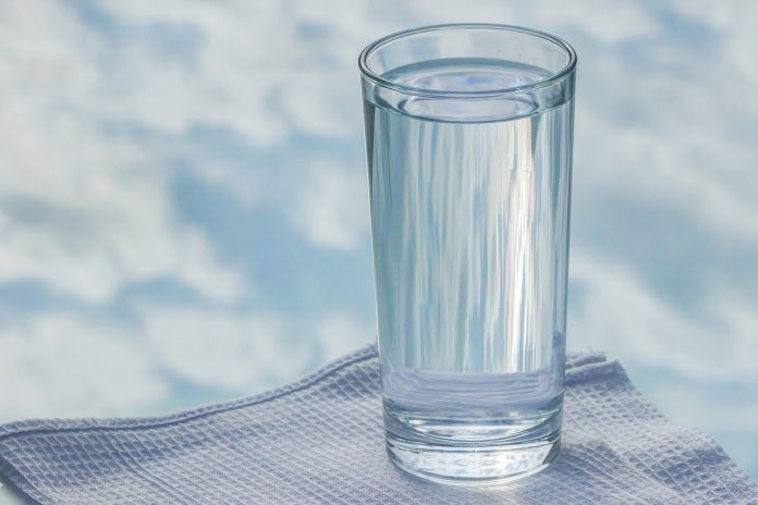 A glass water