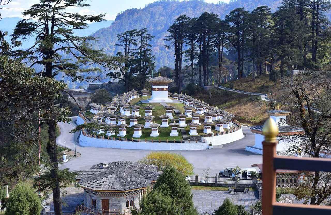 Dochula Pass in Thimphu, Bhutan