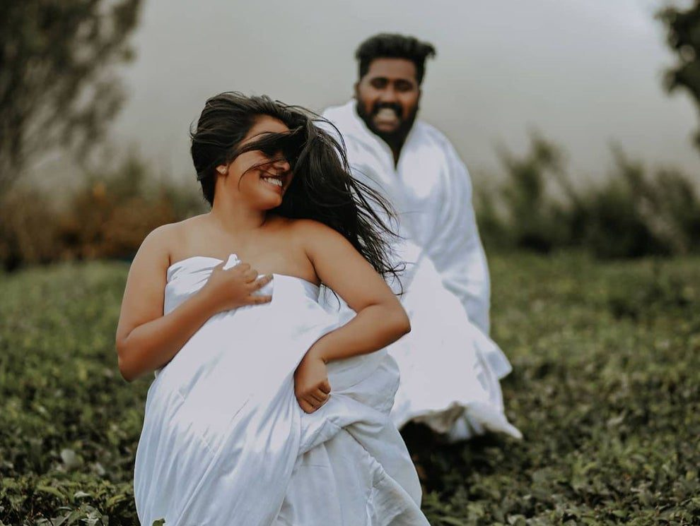 Newlywed couple post-wedding photoshoot