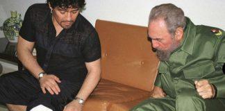 Diego Maradona and Fidel Castro