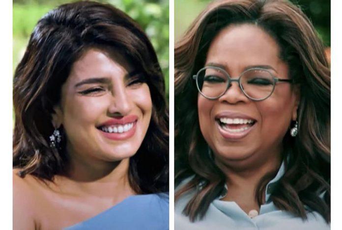 Priyanka Chopra and Oprah Winfrey