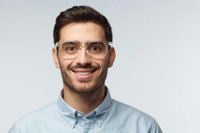 mens transparent glasses