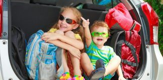 Travelling by car with children