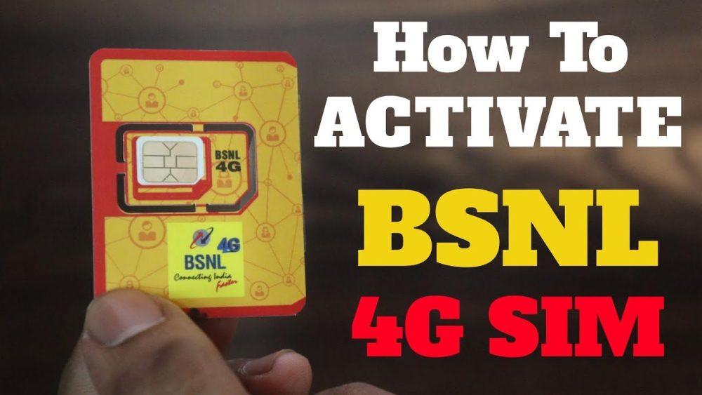 BSNL SIM Card Activation Method