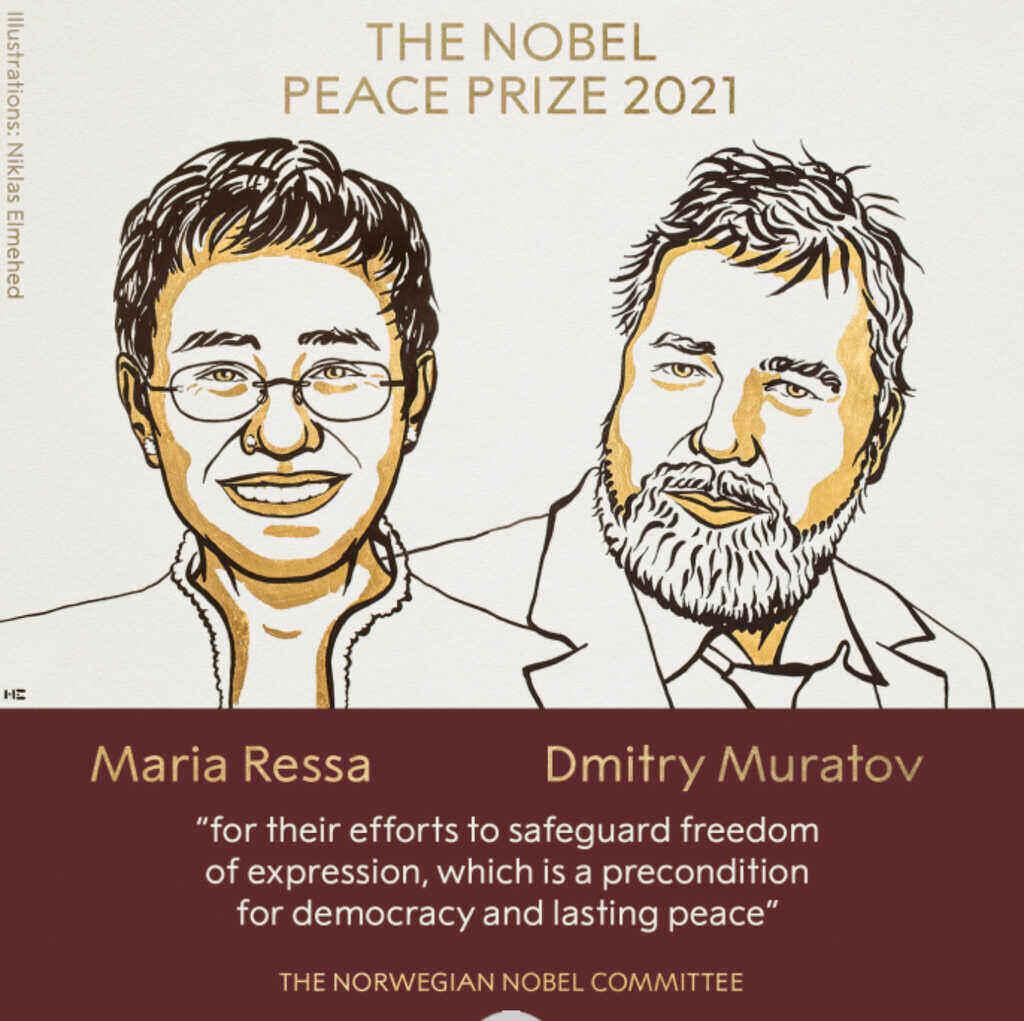 Nobel Peace Prize 2021 Winners